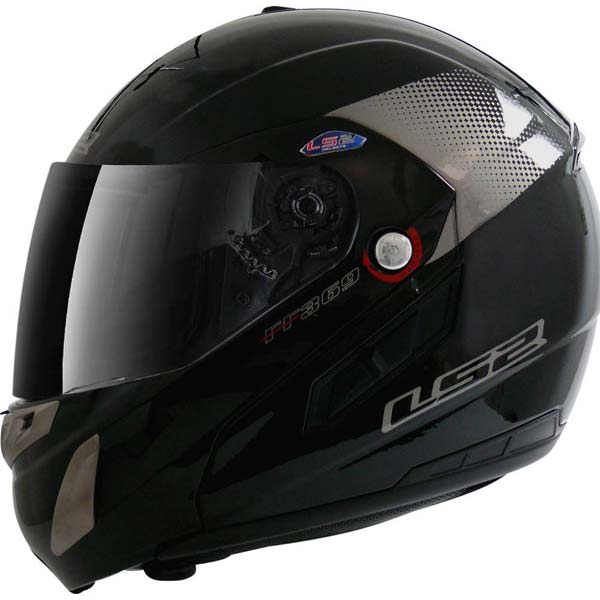 Capacete LS2 FF369 Delta Preto Brilhante  - Motosports