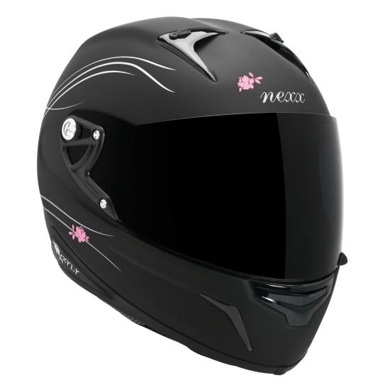 Capacete Nexx XR1R Glam Preto fosco (GANHE BABY LOOK FEMININA)  - Motosports