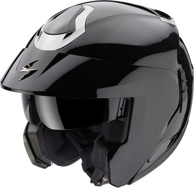 Capacete Scorpion Exo 900 Solid Black Gloss  - Motosports