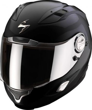 Capacete Scorpion Exo 1000 Solid Black Gloss  - Motosports