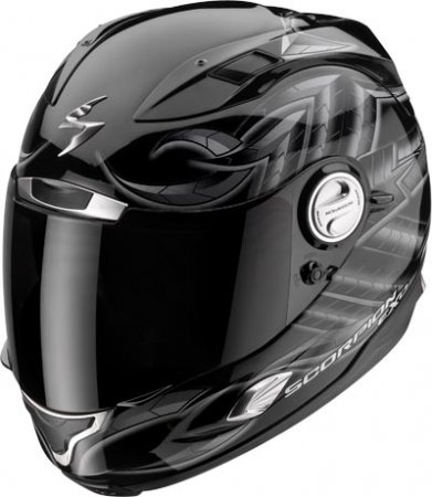 Capacete Scorpion Exo 1000 Bug Black Gloss  - Motosports