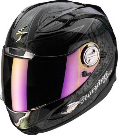 Capacete Scorpion Exo 1000 Fantasy Black Chameleon  - Motosports