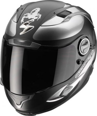 Capacete Scorpion Exo 1000 Sublim Black Chrome  - Motosports