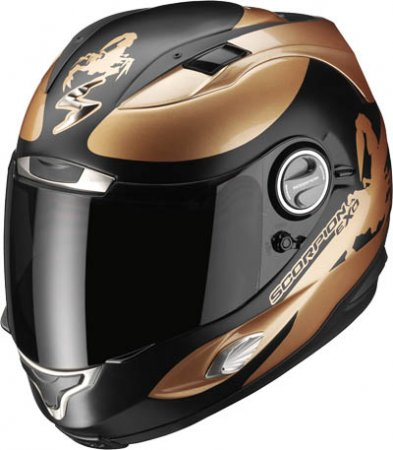Capacete Scorpion Exo 1000 Sublim Black Bronze Matt Gloss  - Motosports