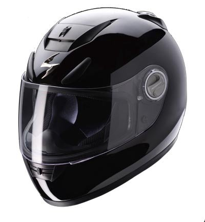 Capacete Scorpion Exo 750 Solid Black Gloss  - Motosports