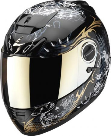 Capacete Scorpion Exo 750 Battles Lord Black Gloss  - Motosports