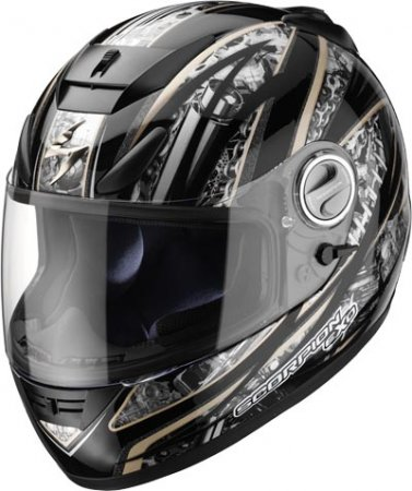 Capacete Scorpion Exo 750 Engine Black Gloss  - Motosports