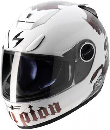 Capacete Scorpion Exo 750 Scorpion White Chameleon Gloss  - Motosports