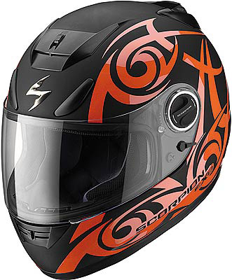 Capacete Scorpion Exo 750 Tribal Black Orange Matt  - Motosports
