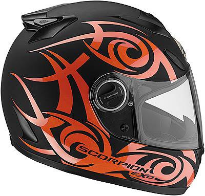 Capacete Scorpion Exo 750 Tribal Black Orange Matt  - Motosports