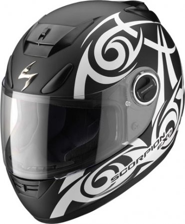 Capacete Scorpion Exo 750 Tribal White  - Motosports