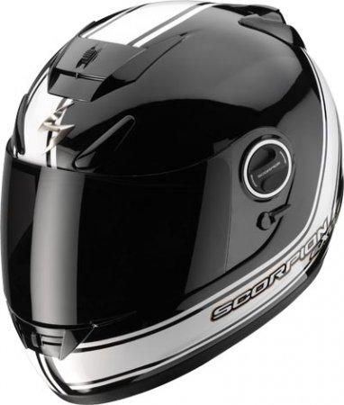 Capacete Scorpion Exo 750  Vintage Black White Gloss  - Motosports