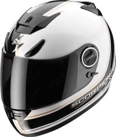 Capacete Scorpion Exo 750 Vintage White Black Gloss  - Motosports