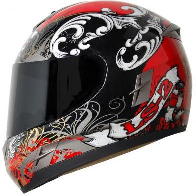 Capacete LS2 FF366 Flux Vermelho  - Motosports