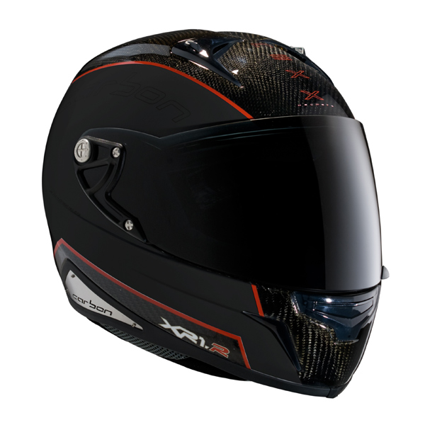 Capacete Nexx XR1R Carbon Preto c/ Vermelho - Fosco (ganhe camise Moto GP)  - Motosports
