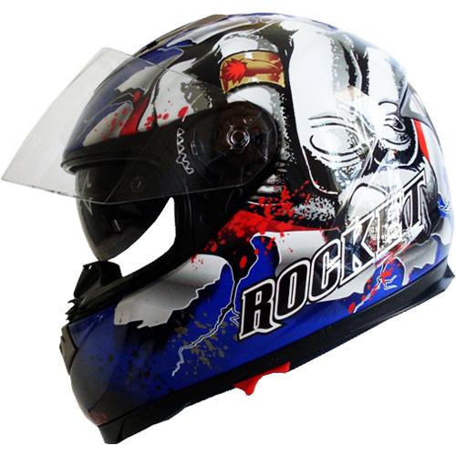 Capacete Joe Rocket Fist Blue (MULTI-FIBRAS) BRINDE BALACLAVA  - Motosports