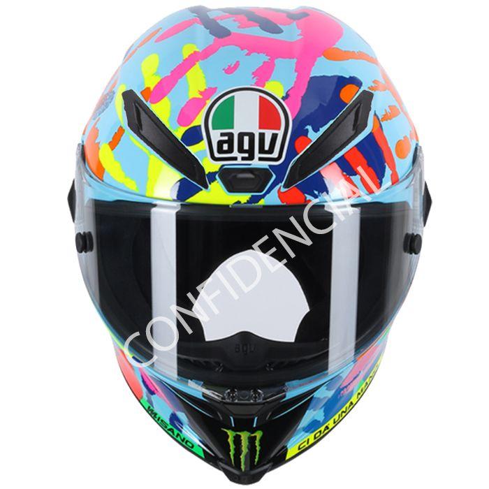 CAPACETE AGV RÉPLICA VALENTINO ROSSI PISTA GP MISANO  - Motosports