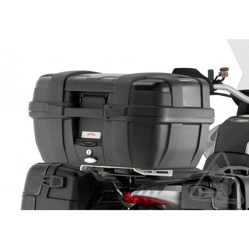 BAÚ TRASEIRO GIVI TREKKER ALUMINUM 52 LITROS PRETO  - Motosports