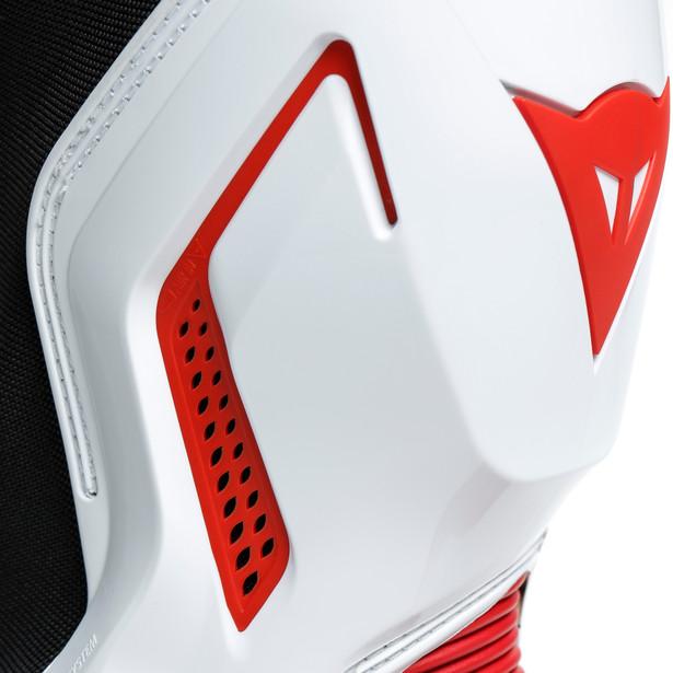 BOTA DAINESE TORQUE 3 OUT BLACK / WHITE / LAVA RED  - Motosports