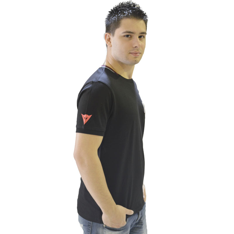 Camiseta Dainese Indianapolis Evo S/S - Preta  - Motosports