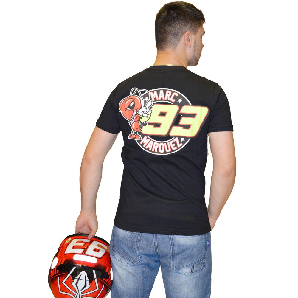 Camiseta Marc Marquez 93 PRETA  - Motosports