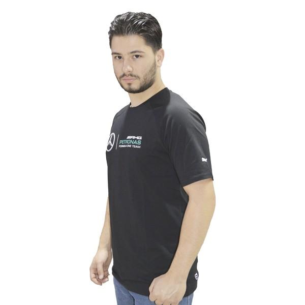 CAMISETA MERCEDES BENZ PRETA  - Motosports