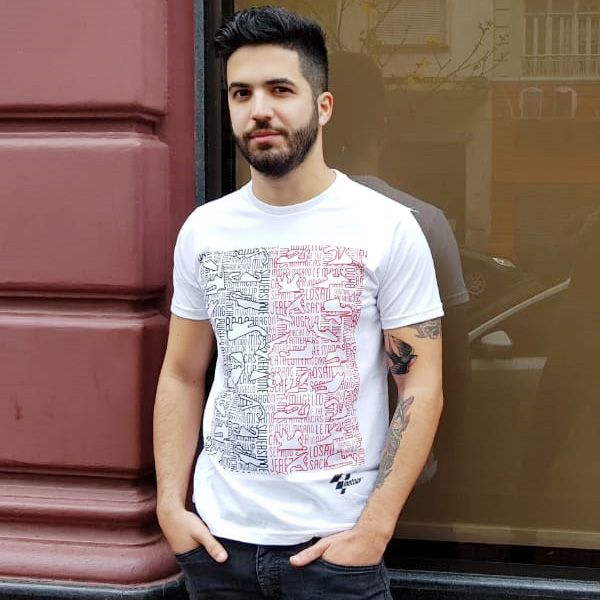 Camiseta MOTOGP FAN - BRANCO   - Motosports