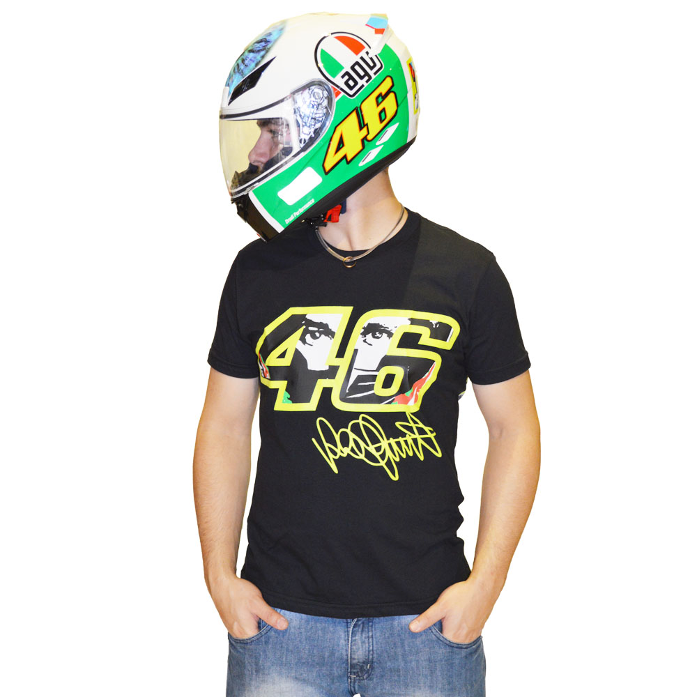Camiseta Valentino Rossi 46 THE DOCTOR PRETA  - Motosports