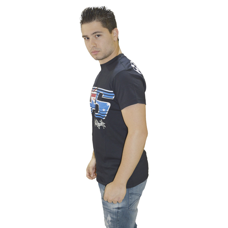 Camiseta Valentino Rossi 46 ISLAND PRETA  - Motosports
