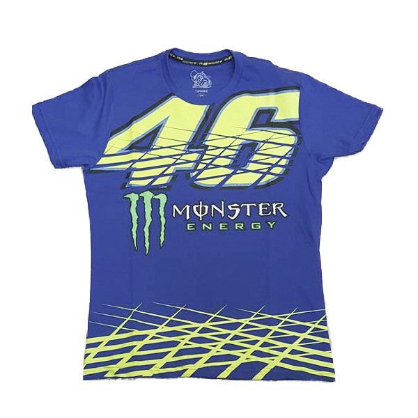 Camiseta Valentino Rossi 46 Monster energy Azul  - Motosports
