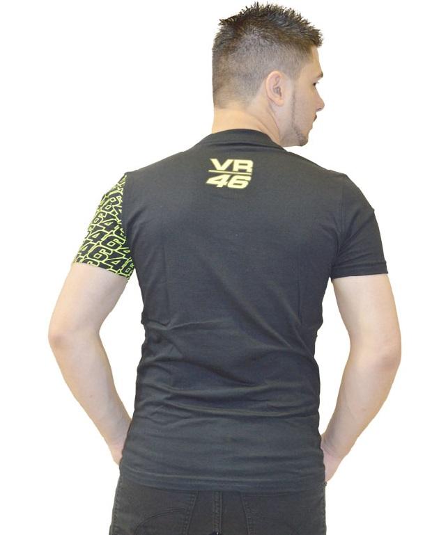 Camiseta Valentino Rossi 46 Monster energy Preta  - Motosports
