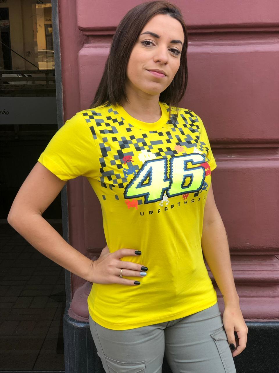 Camiseta Valentino Rossi - AMARELA Feminina   - Motosports