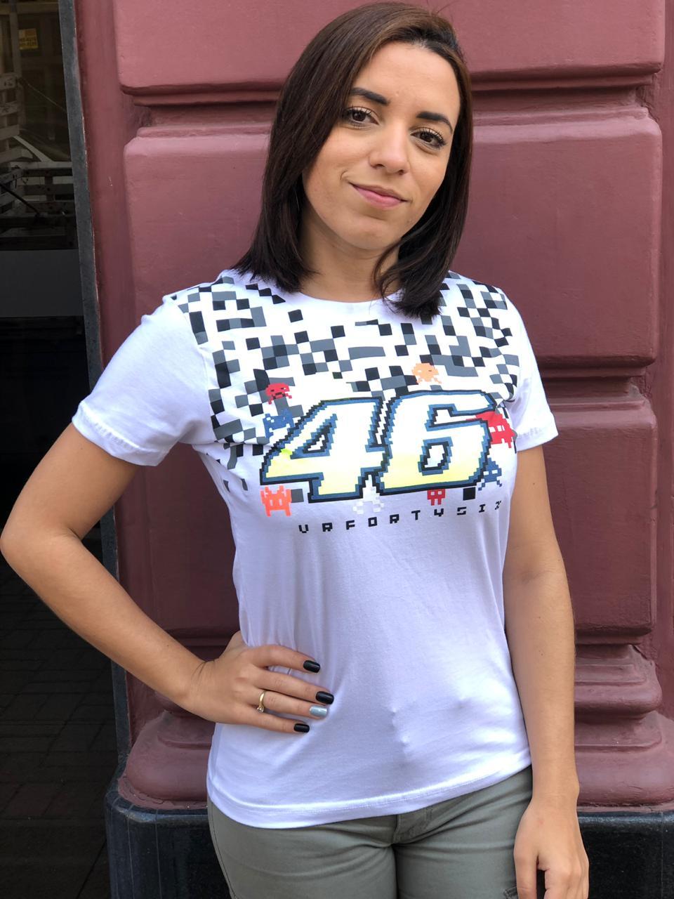 Camiseta Valentino Rossi - BRANCA  Feminina   - Motosports