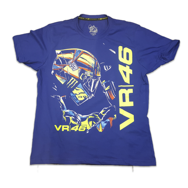 Camiseta Valentino Rossi Moto GP feminina - Azul  - Motosports