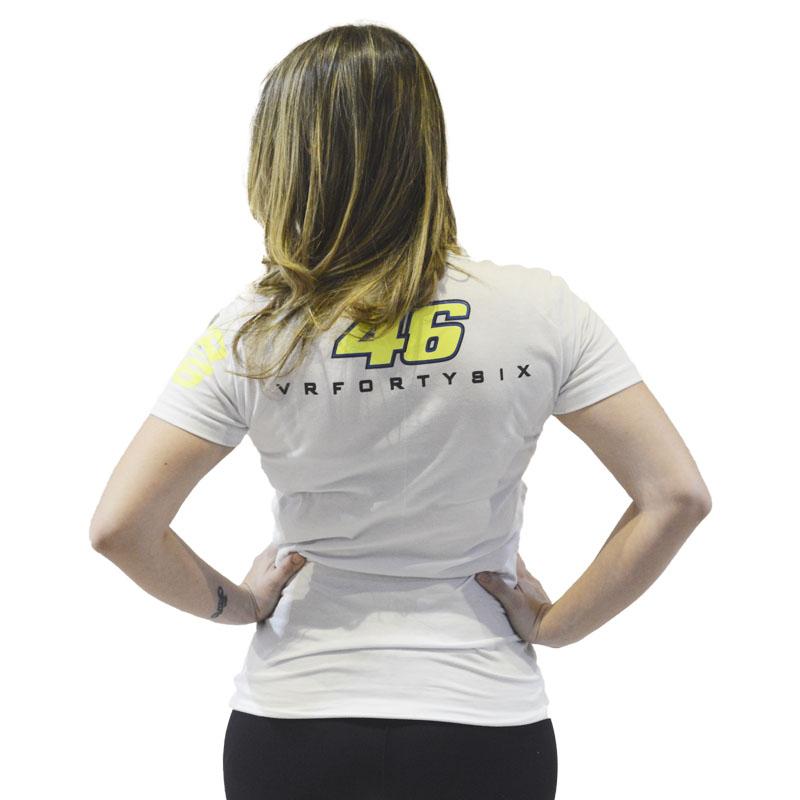 Camiseta Valentino Rossi the doctor Feminina branca  - Motosports