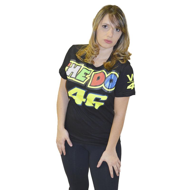 Camiseta Valentino 46 Feminina Preta  - Motosports