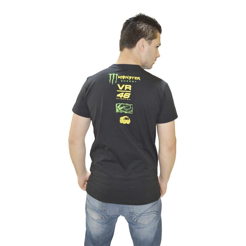 Camiseta VR46 FORTY SIX PRETA  - Motosports