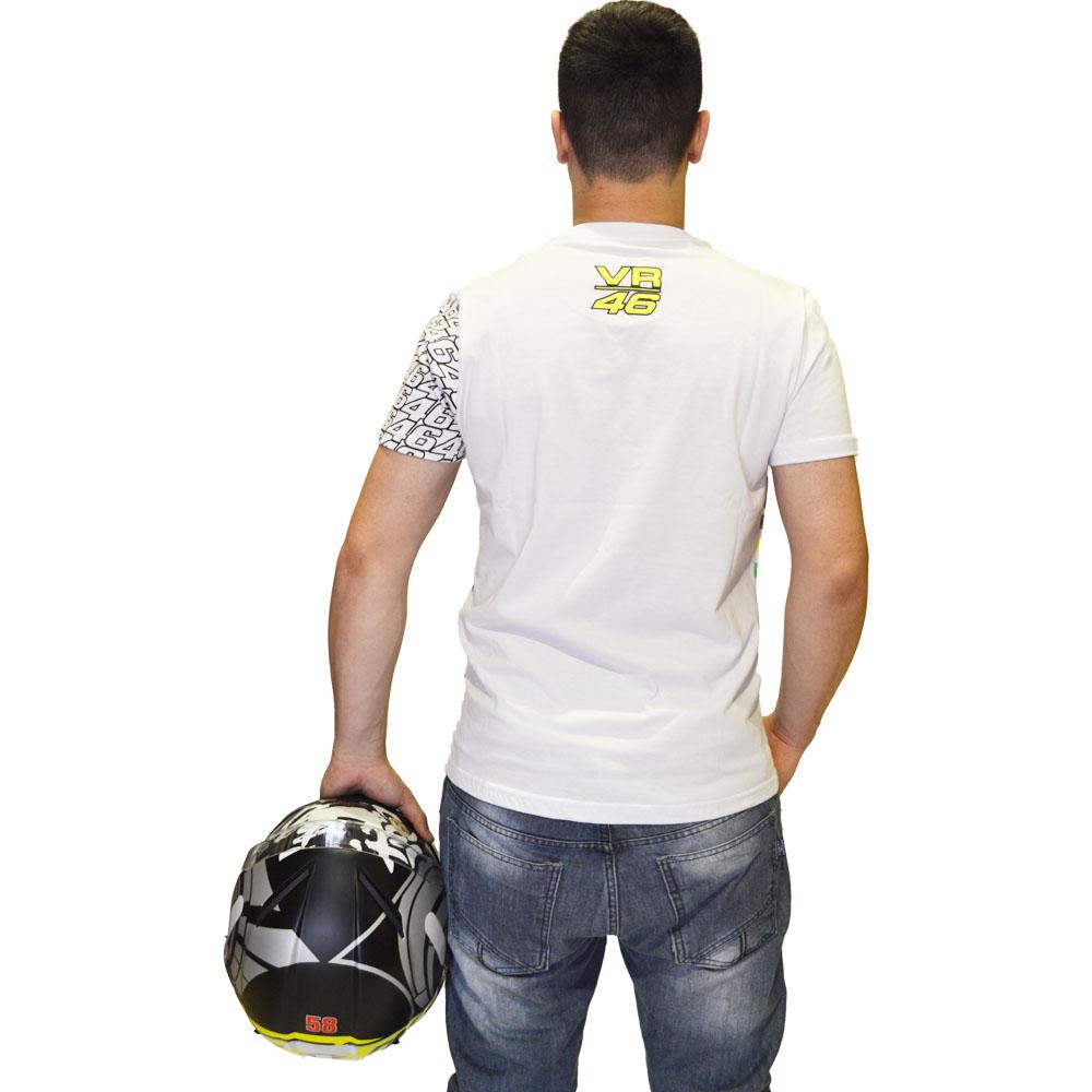 Camiseta VR46 MONSTER BRANCA  - Motosports