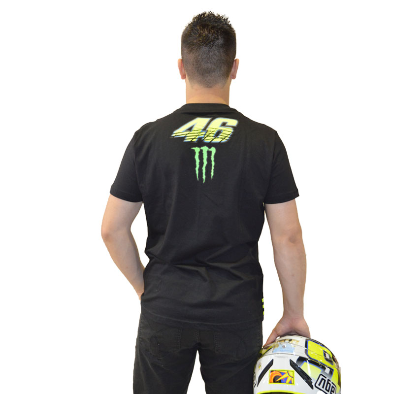 Camiseta VR46 MONSTER PRETA  - Motosports