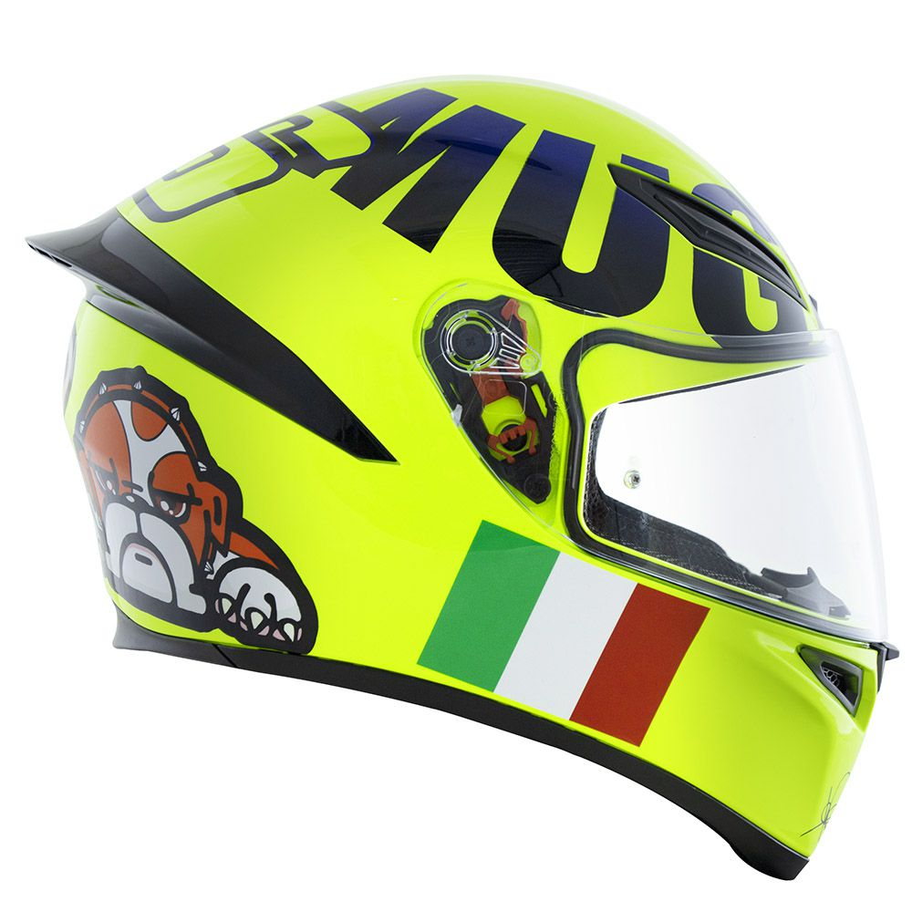 Capacete AGV K-1 MUGIALLO AMARELO FLUOR Valentino Rossi (k1)  - Motosports