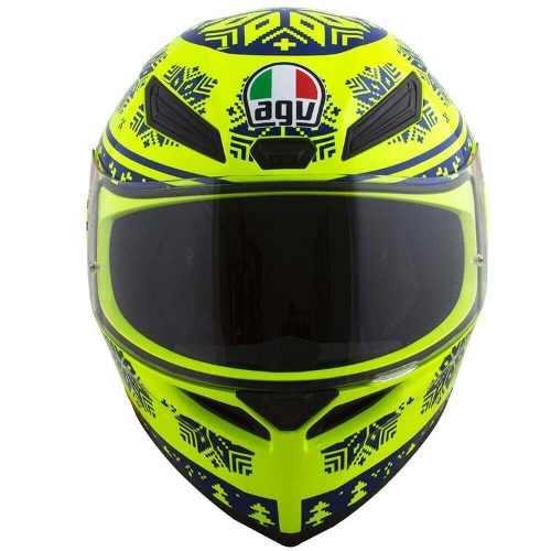 Capacete AGV K-1 WINTER TEST Amarelo Neve Valentino Rossi (k1)  - Motosports