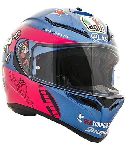 CAPACETE AGV K3 SV GUY MARTIN  AZUL  - Motosports