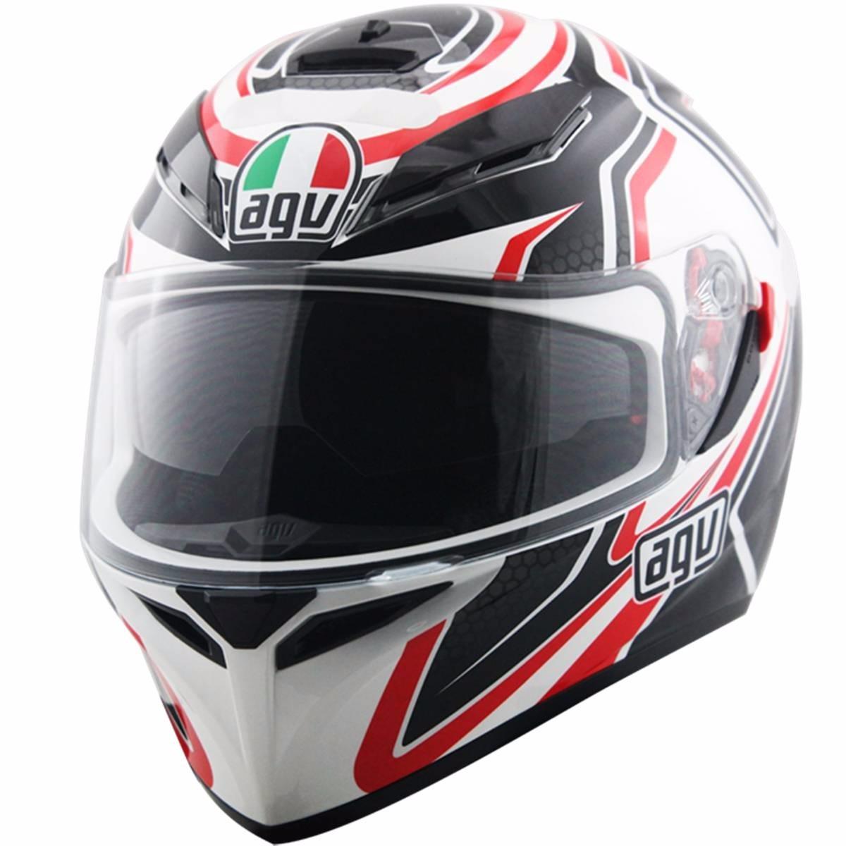 Capacete Agv K3 Sv Racer C/ Óculos Escuro Retrátil  - Motosports