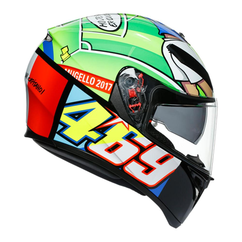 CAPACETE AGV K3 SV ROSSI MUGELLO 2017  - Motosports