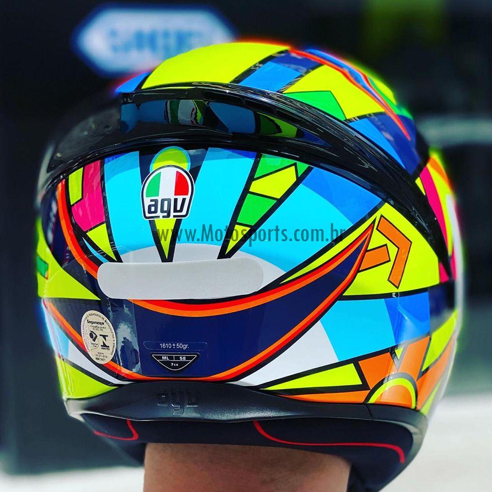 Capacete AGV K-1 Soleluna 17 Valentino Rossi Oficial Piloto (K1)  - Motosports