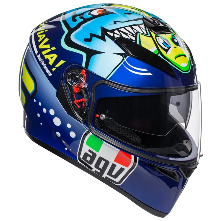 CAPACETE AGV K-3 SV MISANO 2015 Valentino Rossi C/ Viseira Solar  - Motosports