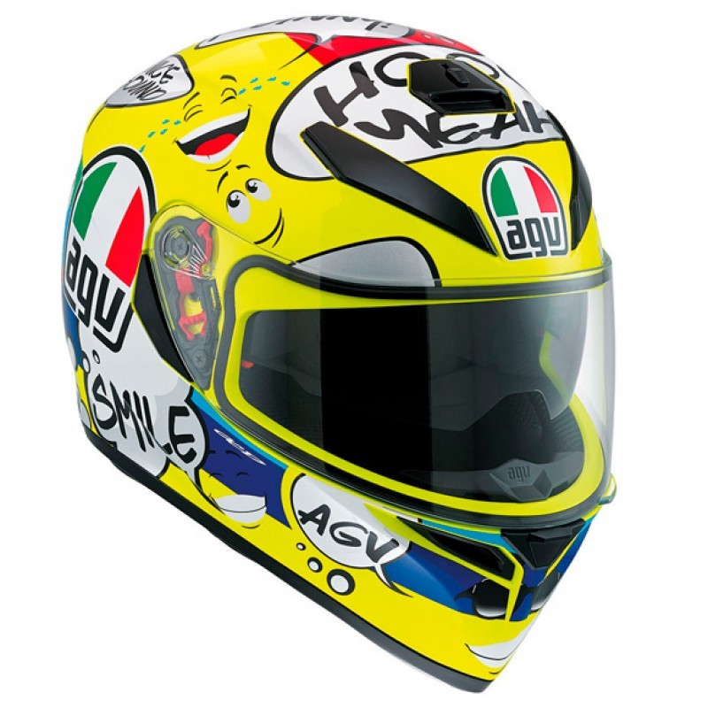 CAPACETE AGV K3 SV (RIDER GROOVY) AMARELO  - Motosports
