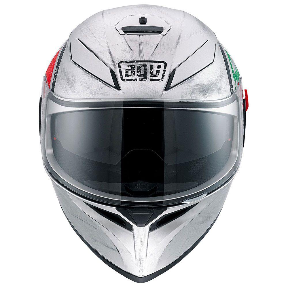 Capacete AGV K-3 SV Scudetto Multi C/ Viseira Interna Solar   - Motosports