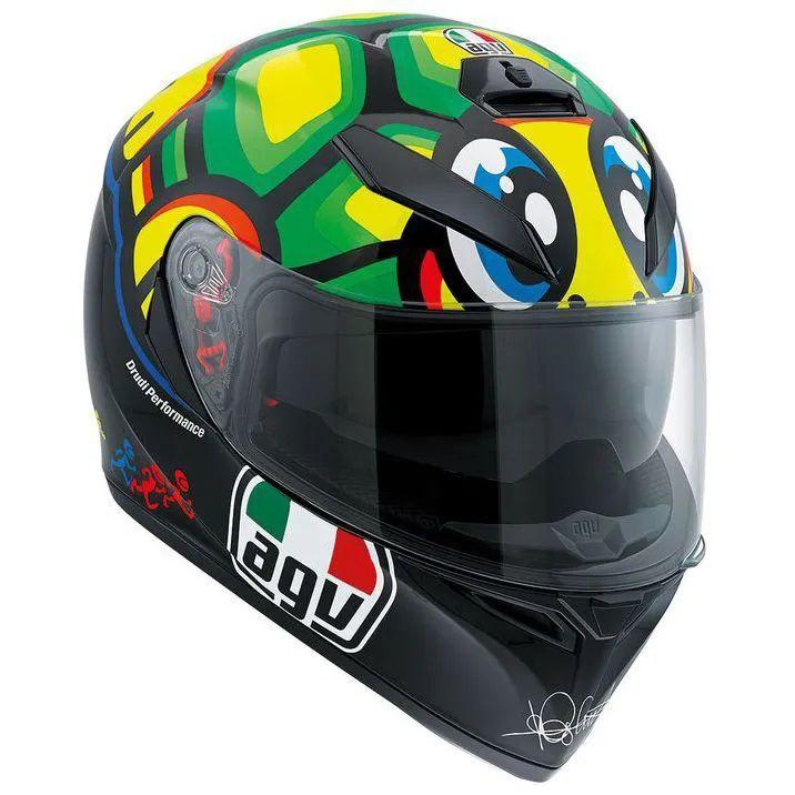 Capacete AGV K-3 SV Turtle Valentino Rossi C/ Viseira Interna Solar   - Motosports