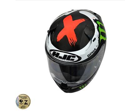 CAPACETE HJC RPHA-10 RÉPLICA JORGE LORENZO (FIBRA CARBONO/ARAMIDA/ VIDRO) PRETO  - Motosports